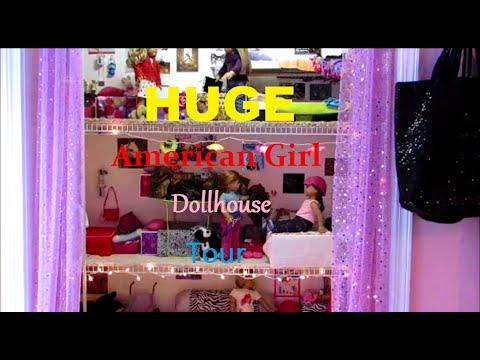 huge american girl doll house tour 2014 youtube