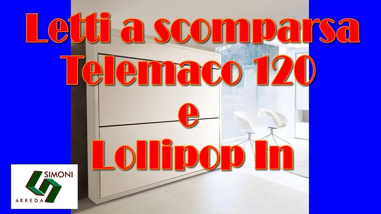 Letti a scomparsa telemaco 120 desk lollipop in youtube for Simoni arreda milano