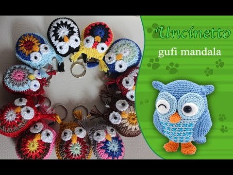 Uncinetto Amigurumi Portachiavi Gufi Mandala How To Do Keychain
