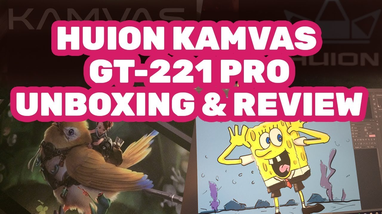 Huion Kamvas GT-221 pro Digital Tablet Review and Unboxing