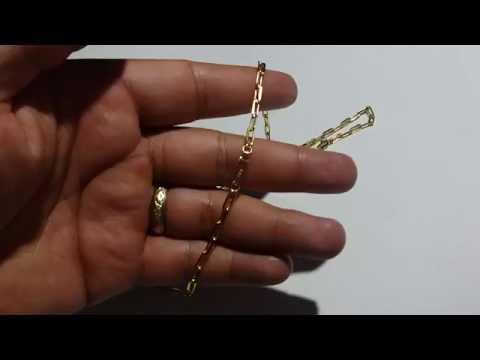 91ffa3f42e1 Corrente Cordão Cartier Masculino Fecho Gaveta Folheado Ouro - YouTube