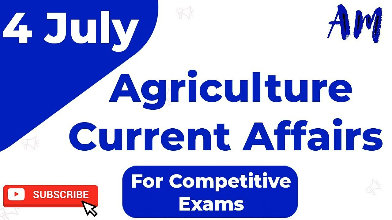 💥IBPS AFO-2020-21| NABARD | Agriculture Field Officer | RRB AO | Agriculture Current Affairs- 4 July