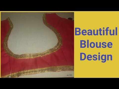 Beautiful And Simple Blouse Design Stitching With Lace/Easy Method/By Durgavati Vishwakarma