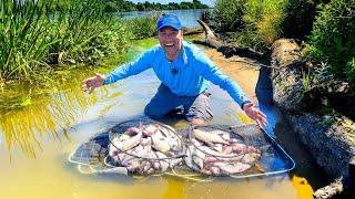 Рыбалка НА ФИДЕР в жару в ЭТОЙ РЕКЕ много рыбы ЛОВЛЯ ЛЕЩА на реке Фидер 2021