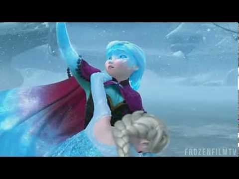Frozen anna saves elsa scene