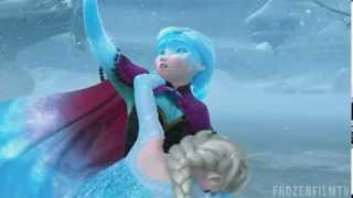 Frozen anna saves elsa scene...