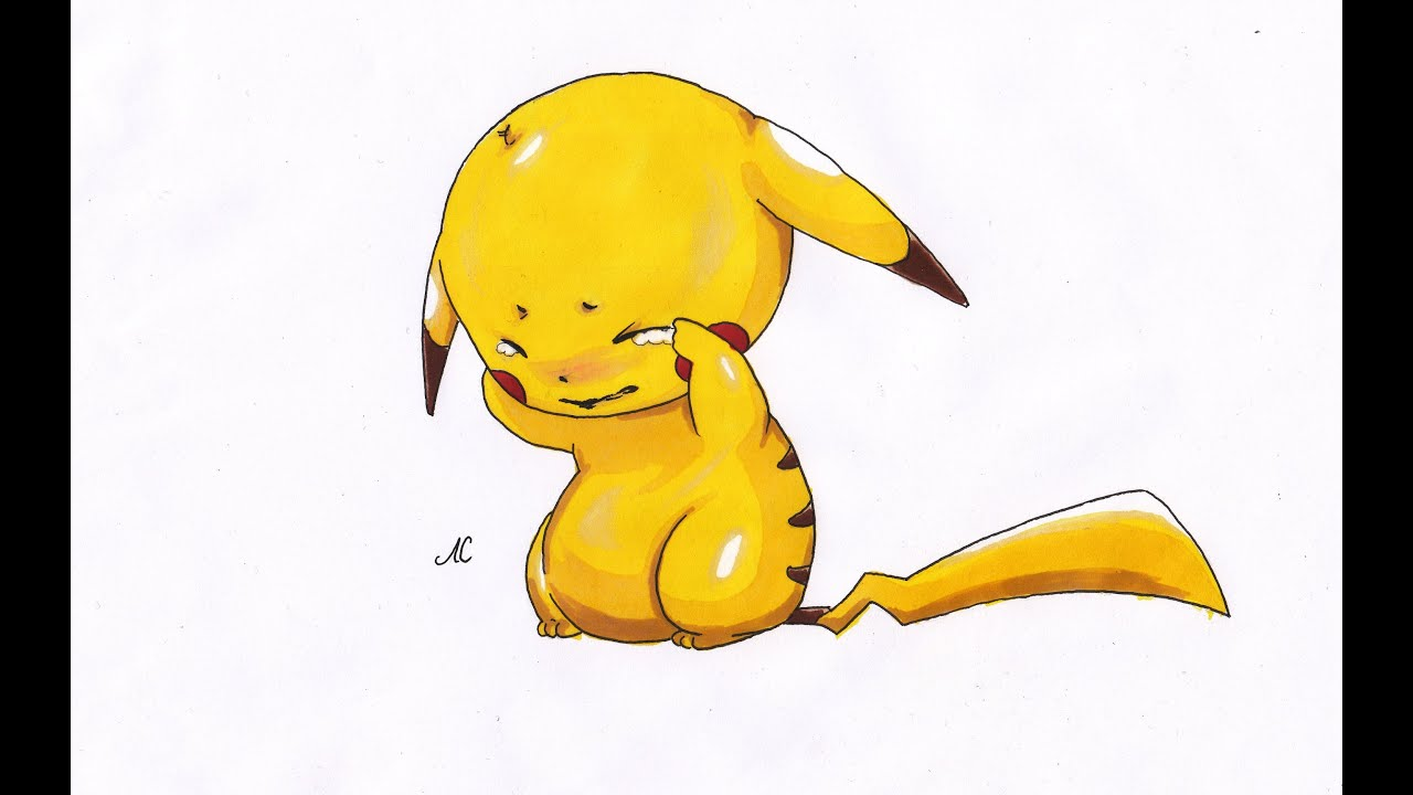 drawing pikachu pokemon erua2 youtube