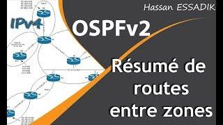 OSPF: Résumé de routes entre zones | Darija