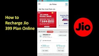 How to Recharge Jio 4G LTE 399 Plan Online from My Jio APP through NET Banking