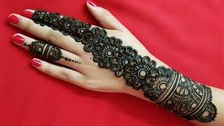 Easy Arabic Mehndi design for back hand |New flower mehndi design | Easy simple mehndi design2020