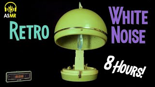 🔊White Noise Therapy - 1960s Bonnet HAIR DRYER 8 Hours! ASMR - Relax🌎 Sleep 💤 Concentrate💡