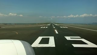 Tokyo Haneda Airport Runway 05 Take-off / 快晴の羽田空港 D滑走路離陸 (ANA 787-8)