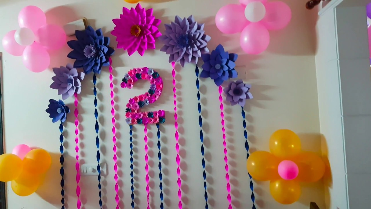Diy Birthday Paper Decor Flowers