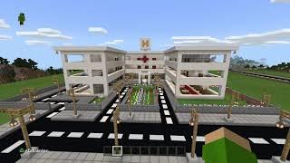 Minecraft  şehir yapma  bölüm 3  hastane yapımı