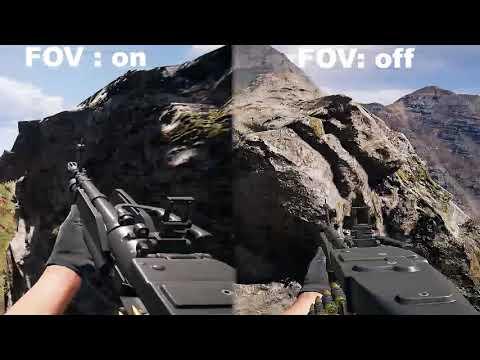 FAR CRY 5: FOV :on Vs FOV Off Comparison [HD] 60FPS