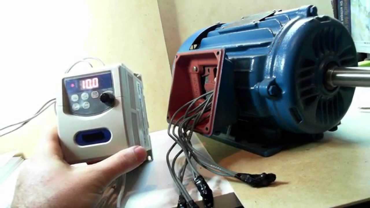 1 Cómo conectar un Variador de Velocidad para Motor Trifásico - YouTube
