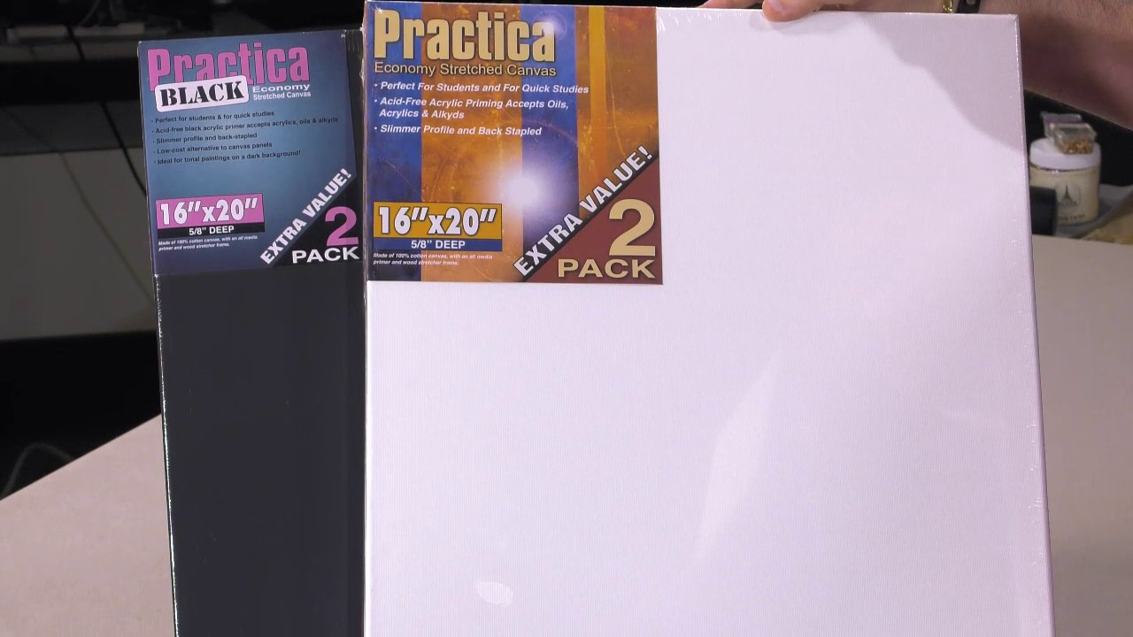 11 L  x 14 W Practica Economy Stretched Canvas Cotton Artist Acid-Free Primed Painting Canvas Panels 5//8 Deep Value Box of 20