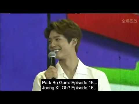 [ENGSUB] 160514 Song Joongki's Fanmeeting in Beijing - Park Bo Gum talks about his favorite scene