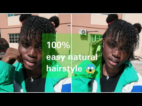 Easy natural hairstyle: 🌼Top easy natural hairstyles🌼