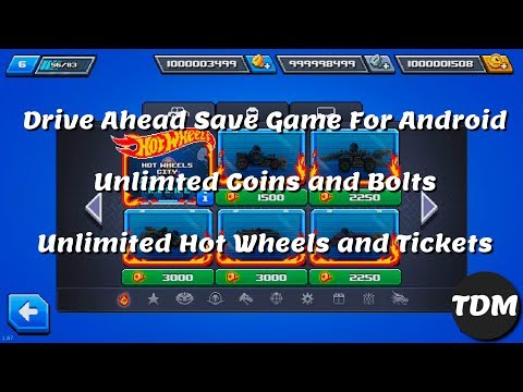 (No Root) Drive Ahead Save Game Cheats For Android V2.1.0 | Unlimited Coins, Bolts,Hot Wheels,Ticket