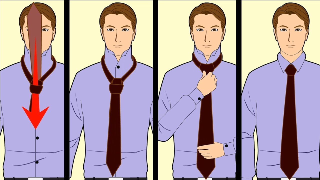 How to Tie a Tie - Step By Step Tutorial Quick & Easy ...