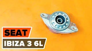 How to change rear strut mount SEAT IBIZA 3 6L [TUTORIAL AUTODOC]