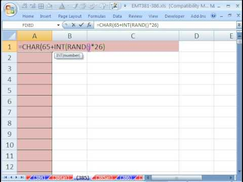 Excel Magic Trick 385: Generate Random Letters without RANDBETWEEN function