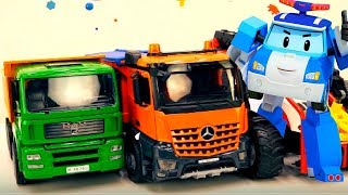 Cars & Trucks videos for kids with clowns for kids.
