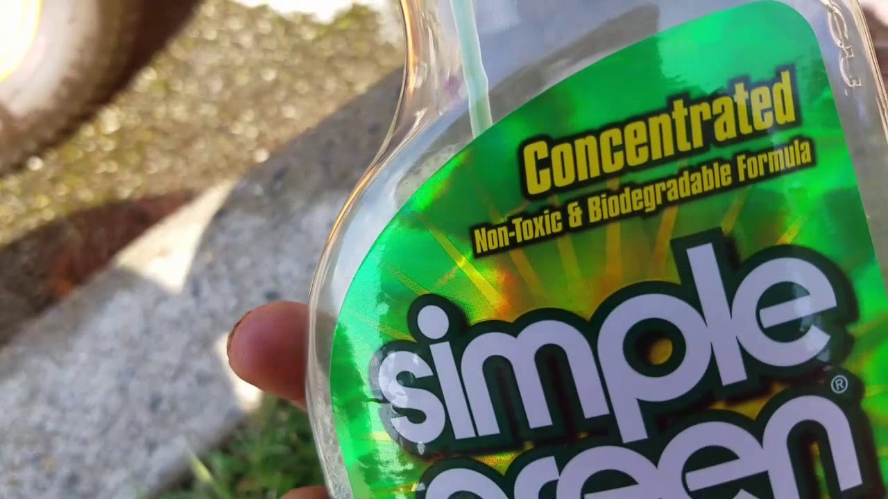 simple green cleaner for your lawn equipment