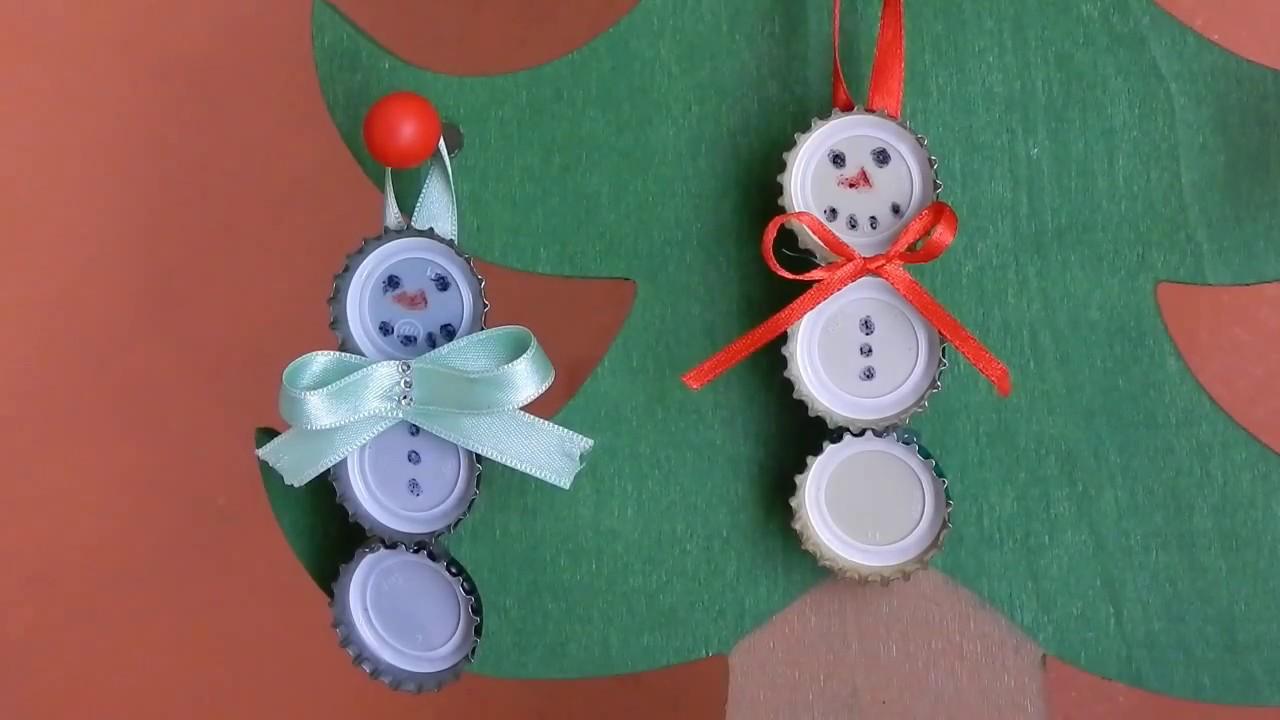 Lavoretti Di Natale Con Tappi Di Plastica.Come Fare Un Pupazzo Di Neve Con Tappi Margistyle Youtube