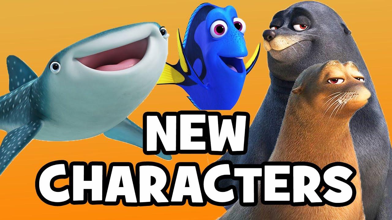 FINDING DORY Meet The Characters & Cast Pixar Finding Nemo Sequel