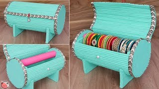 Best Out Of Waste Idea.... DIY Bangle Box Making at Home !!!