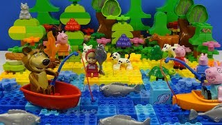 Строим из Lego Duplo, Masha And The Bear, Build and Play toys Lego - picnic by the river