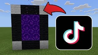 How To Make a Portal to the TikTok Dimension in MCPE (Minecraft PE)