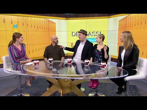 The cast of the original 'Degrassi' take part in a game of rapid fire  Your Morning
