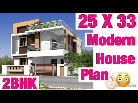 25-x-33-,-modern-house-design-,-90-gaj-naksha-,-map-,-3d-view-elevation-parking-,-lawn-garden