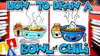 How To Draw A Fuฑny Bowl Of Chili