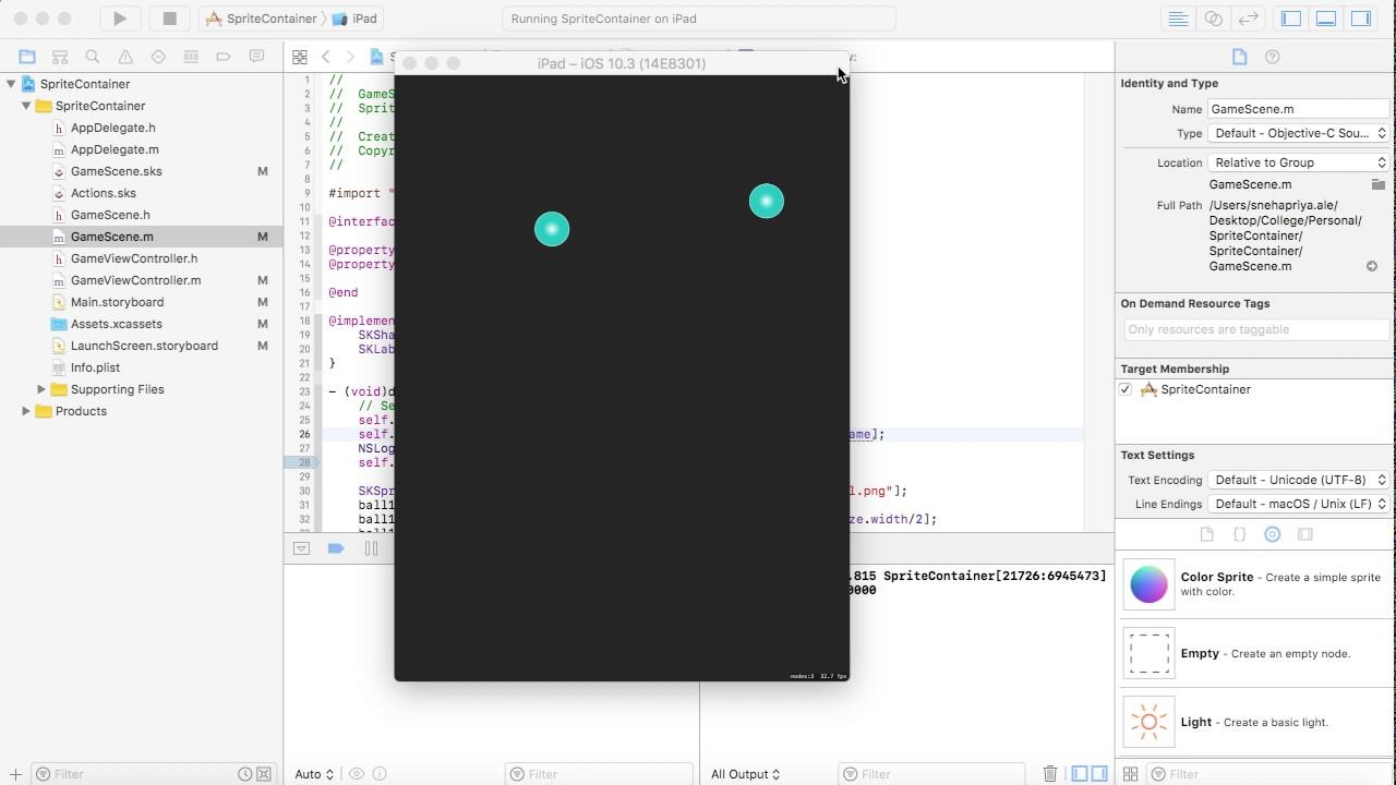 Spritekit objective c tutorial