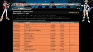 March 1st 2013 Ban List Analysis