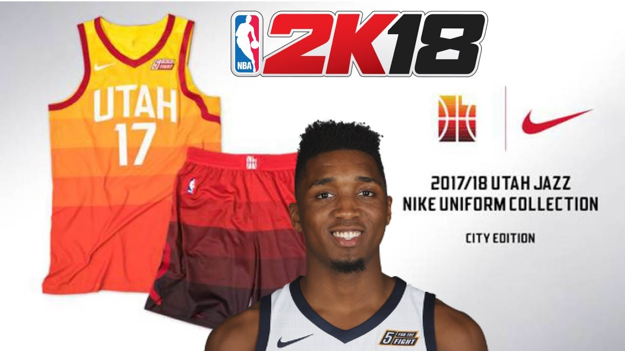 5053137b2c9 NBA 2K18 DONOVAN MITCHELL CITY UNIFORMS - YouTube