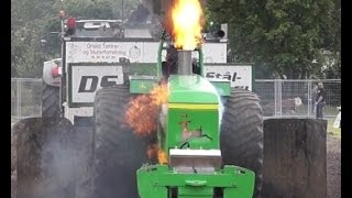 Tractor-Pulling Action and Fail -FarmCup- Særslev DK 2016