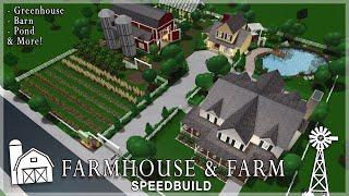 Roblox Bloxburg | Farmhouse & Farm Speedbuild