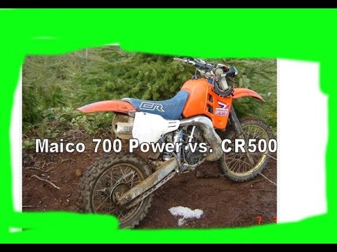 How does the power compare between the CR500 and Maico 700?