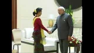 PM Narendra Modi meets Aung San Suu Kyi