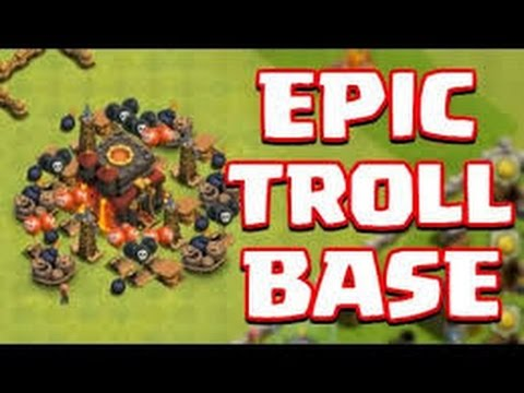 best th7 noob troll base speed build with air sweeper 2015