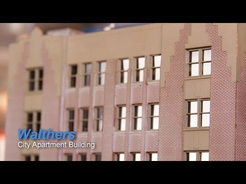 Model Railroad HO Scale Build – Walthers City Apartment Building
