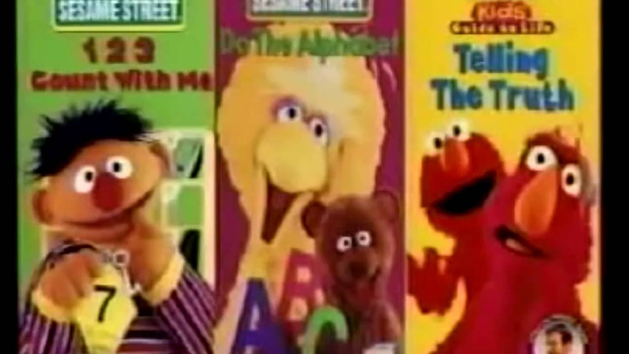 Opening To Sesame Street Presents Barney Safety 2001 VHS