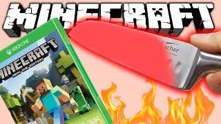 РАСКАЛЕННЫЙ НОЖ В 1000 ГРАДУСОВ (Minecraft Glowing 1000 degree KNIFE)