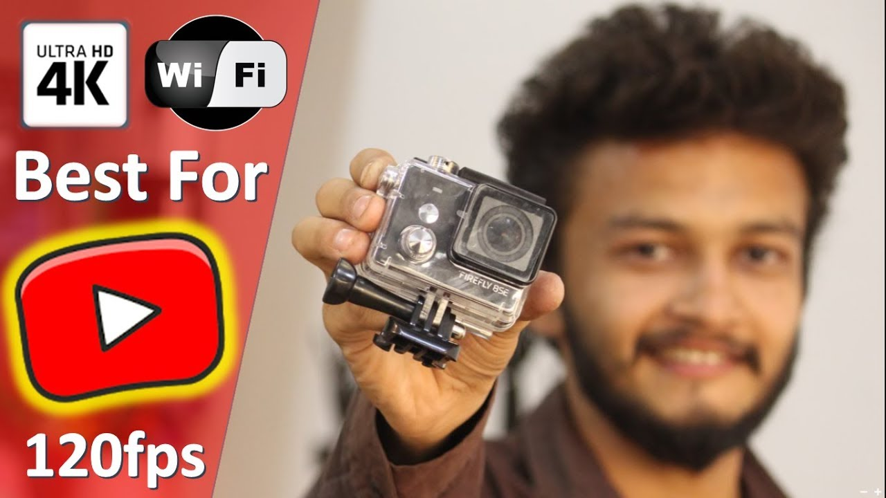 Best 4k action camera for youtuber or vlogger | Firefly 8SE 4K Touch Screen Action Camera with WiFi