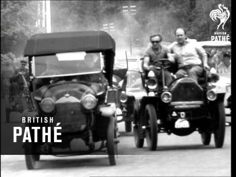 Veteran Car Race In Prague.  1966